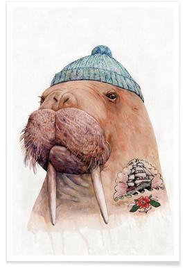 Tatooed Walrus Poster