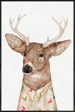 White Tailed Deer ingelijste poster