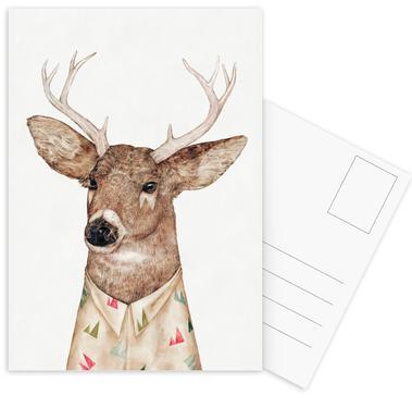 White Tailed Deer -Postkartenset
