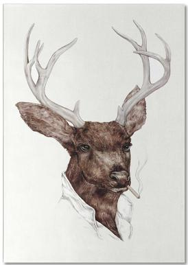 Smocking Buck Notepad