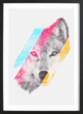 Wild II affiche sous cadre en bois