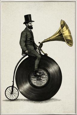 Music Man poster in aluminium lijst