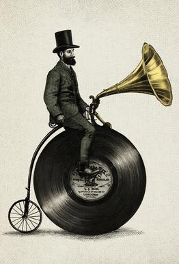 Music Man -Acrylglasbild