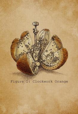 A Clockwork Orange tableau en verre