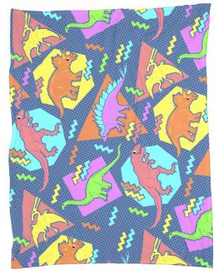 90's Dinosaur Pattern Fleece Blanket
