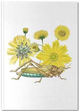 Yellow Flowers and Grasshopper Notebook