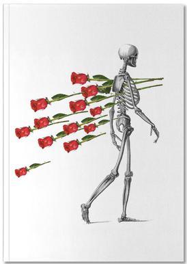 Skeleton & Roses Notebook
