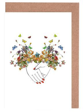Girl Power Bestie cartes de vœux