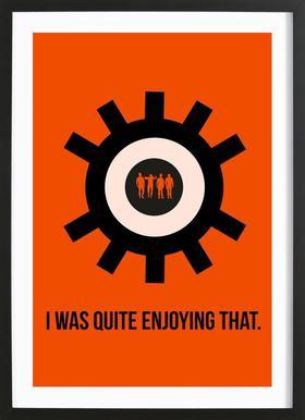 Clockwork Poster Framed Print