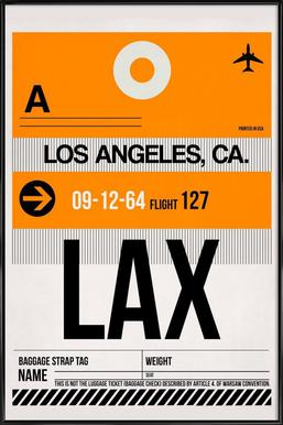 LAX-Los Angeles Framed Poster