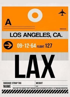 LAX-Los Angeles canvas doek