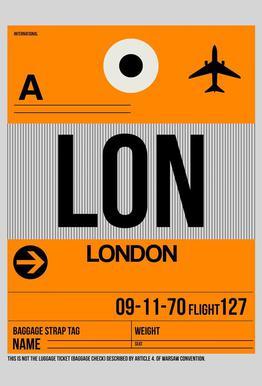 LON-London -Acrylglasbild