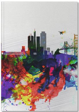 San Francisco Watercolor Skyline 1 Notebook