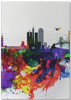 San Francisco Watercolor Skyline 1 -Notizblock