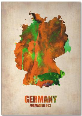 Germany Watercolor Map Notepad