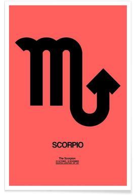 Scorpio Zodiac Sign Black Poster