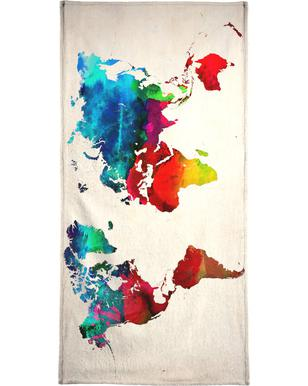 World Map handdoek
