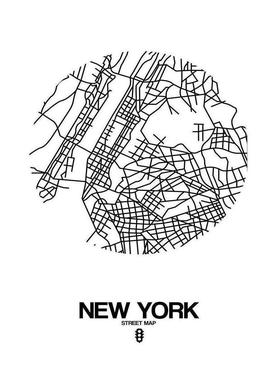 New York canvas doek