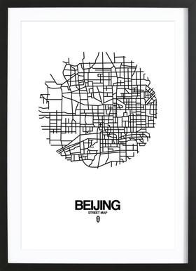 Beijing ingelijste print