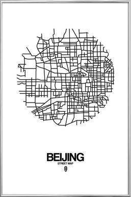 Beijing poster in aluminium lijst