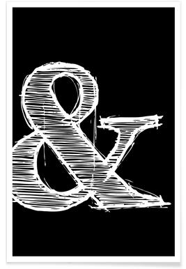 Ampersand Black poster