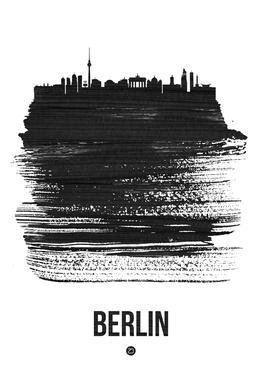 Berlin Skyline Brush Stroke -Acrylglasbild