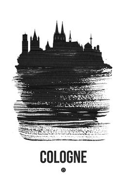 Cologne Skyline Brush Stroke -Acrylglasbild