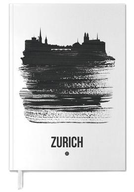 Zurich Skyline Brush Stroke -Terminplaner