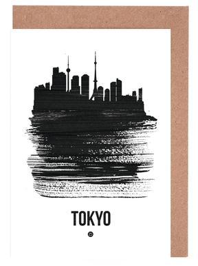 Tokyo Skyline Brush Stroke