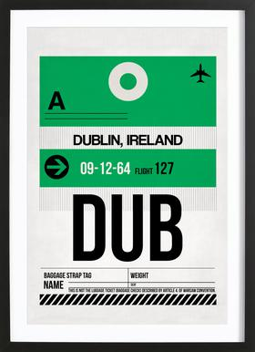 Dublin ingelijste print