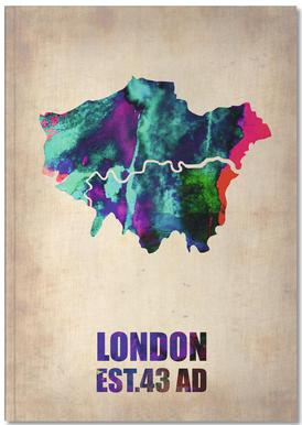 London Watercolor Map Notebook