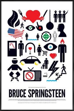 Bruce Springsteen -Bild mit Kunststoffrahmen