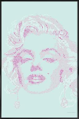 Marilyn - Poster in kunststof lijst