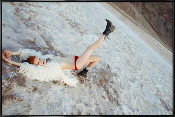 Salt Flats -Bild mit Kunststoffrahmen