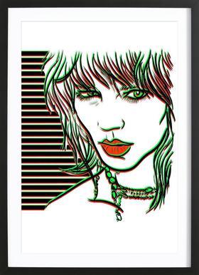 Freja Framed Print