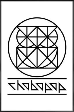 Owl Logo -Bild mit Kunststoffrahmen