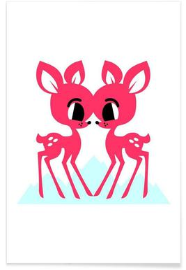 Siamese Fawn -Poster