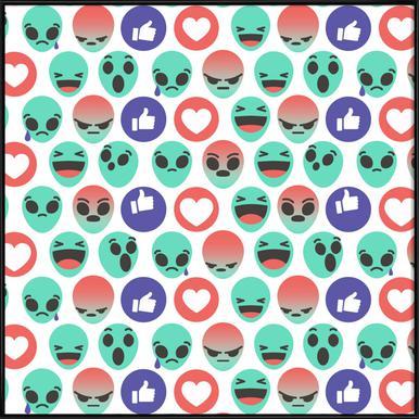 Alien Reactions Framed Poster