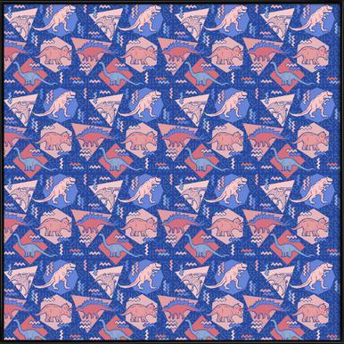 Dino Serenity Quartzrose ingelijste poster