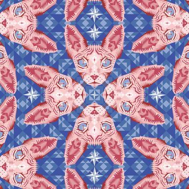 Sphynxcat Serenity Quartzrose Aluminium Print