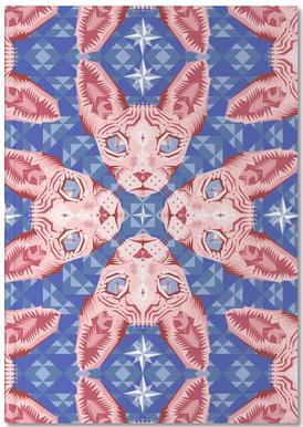 Sphynxcat Serenity Quartzrose Notebook