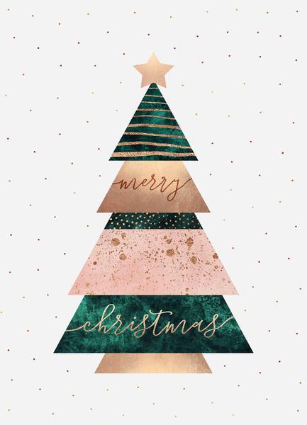 Weihnachtsbilder Merry Christmas.Merry Christmas Tree Poster Juniqe