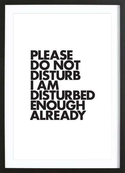Do Not Disturb Poster | JUNIQE