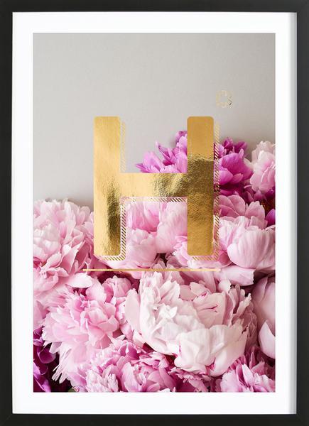 Flower Alphabet H Als Poster Von Neon Fotografie Juniqe
