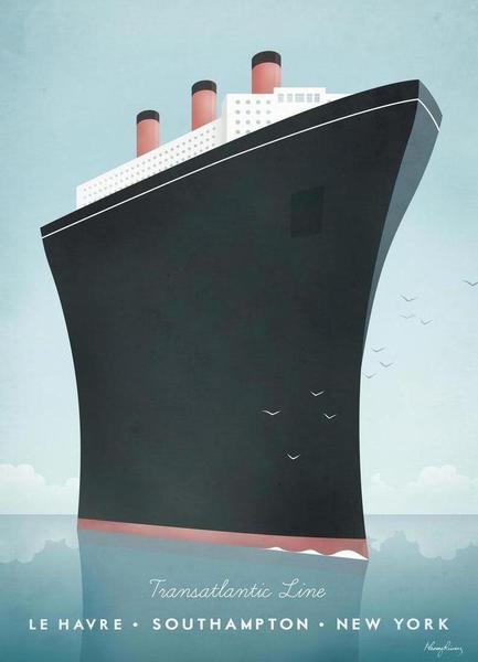 Vintage Cruise Ship Travel Poster | JUNIQE