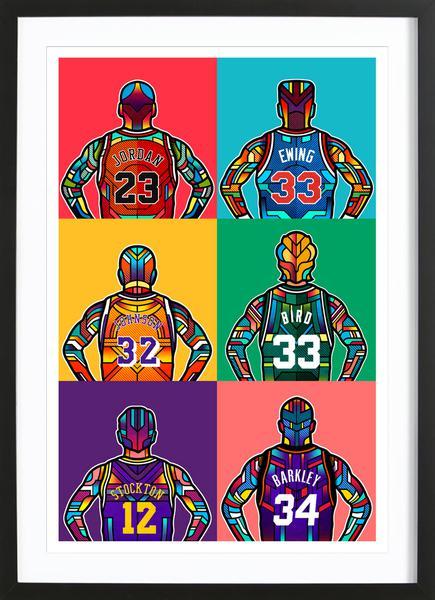 new style e1ccf 5e980 NBA Legends as Poster by Van Orton Design   JUNIQE