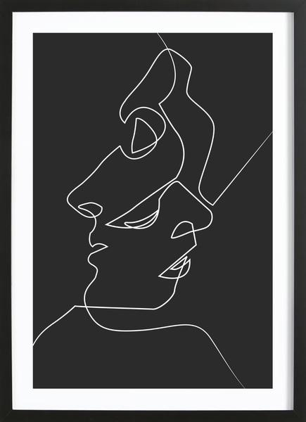 Dark Faces Line Drawing Poster Juniqe