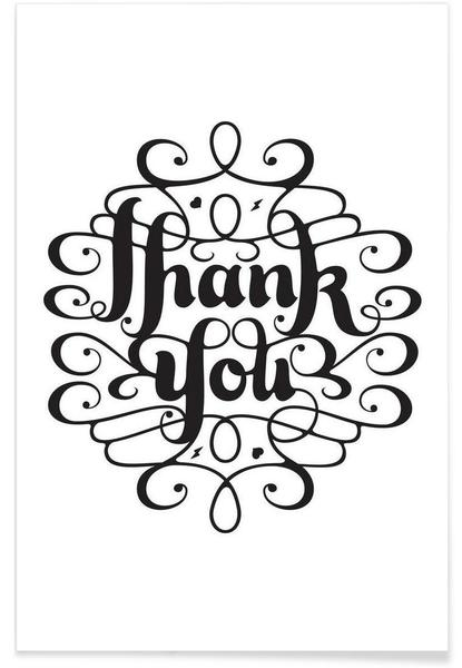 Thank You As Premium Poster By Gwer