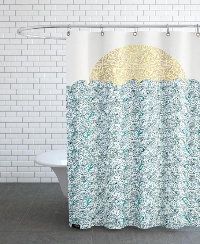 Sunny Tribal Seas As Shower Curtain By Pom Graphic Design