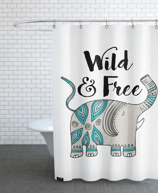 Wild And Free As Shower Curtain By Pom Graphic Design